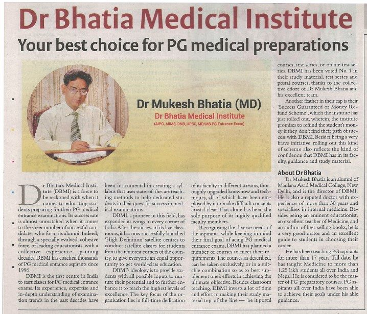 DR. BHATIA PG MEDICAL INSTITUTE