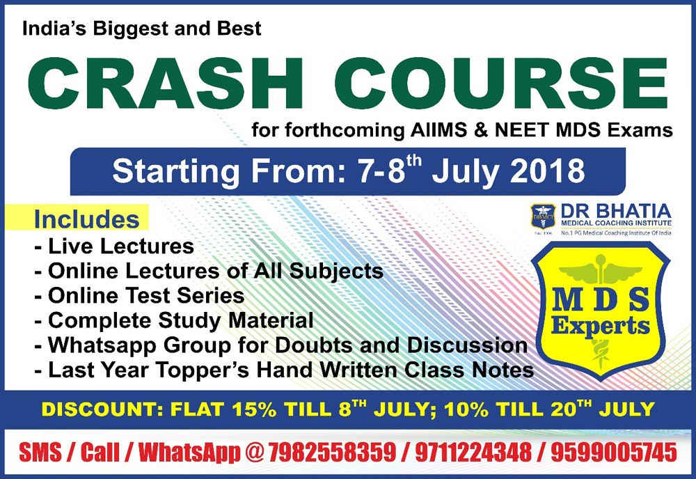 Crash Course for Forthcoming AIIMS and NEET Exam